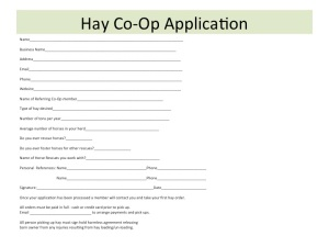 Hay Co-Op Application